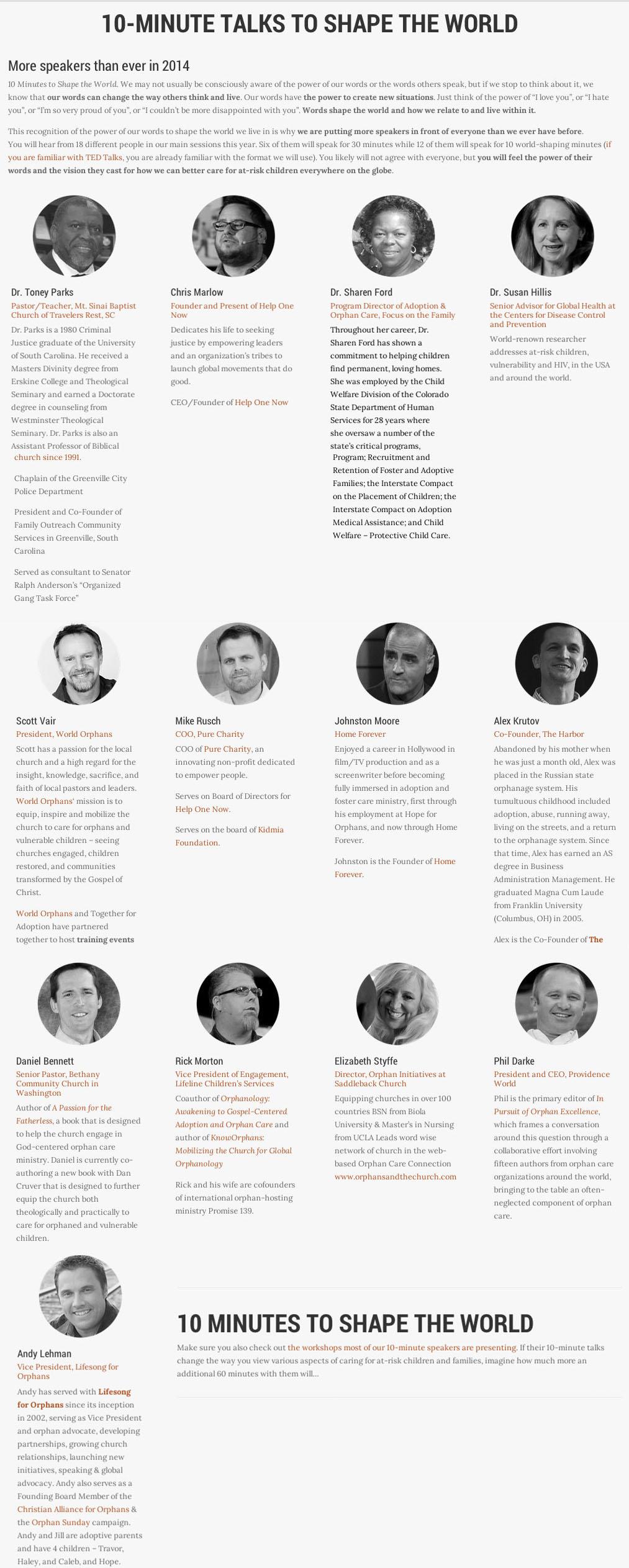 2014 10-Min Speakers