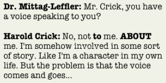 Harold Crick Quotation