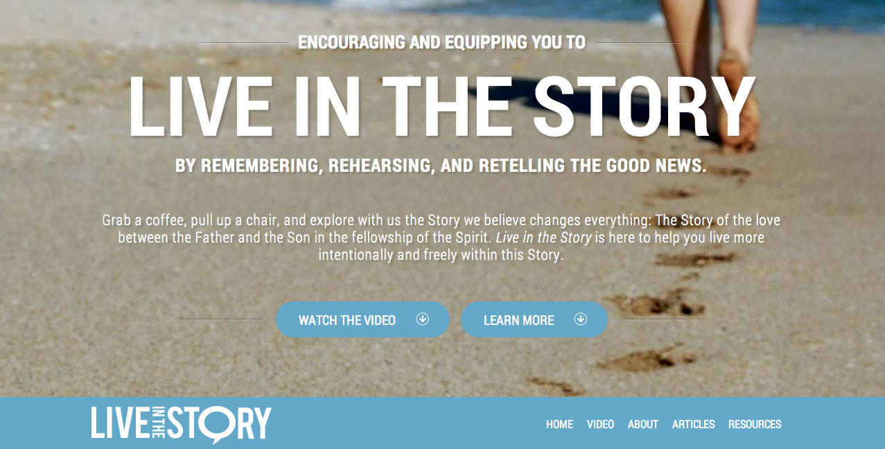 Live in the Story Website - Screen Capture