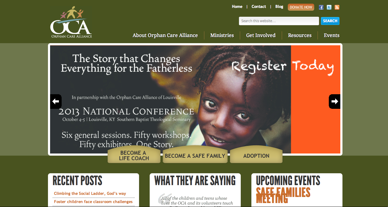 Orphan Care Alliance of Louisville - website