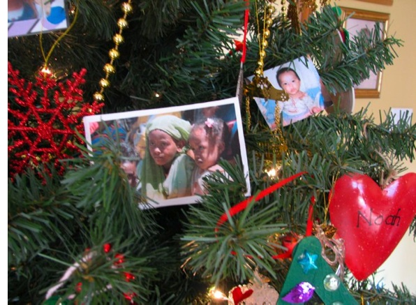 Pictures of Orphans on Christmas Tree