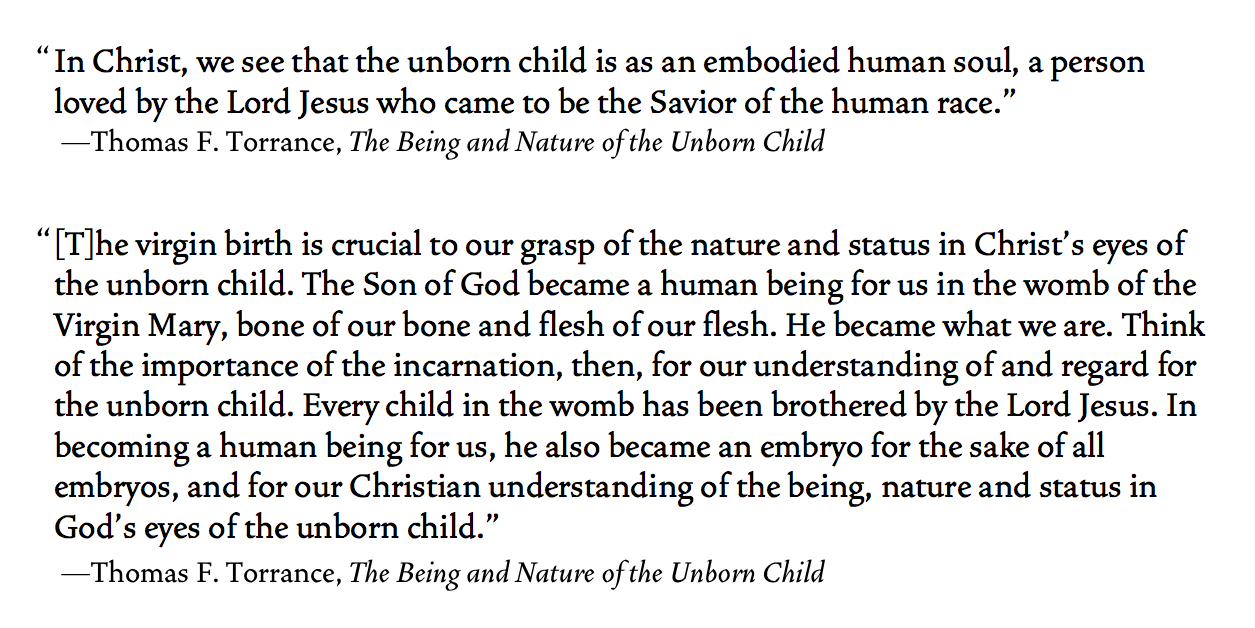 The Being and Nature of the Unborn Child