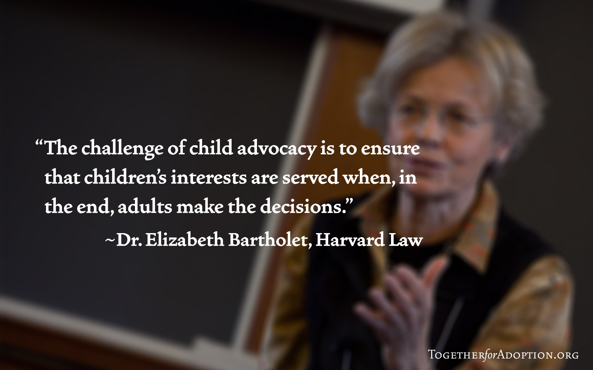 Wallpaper Elizabeth Bartholet - child advocacy