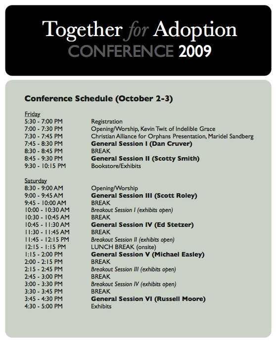 conference-2009-schedule