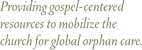 Providing gospel-centered resources to mobilize the church for global orphan care.